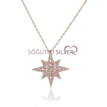 Söğütlü Silver Kutup Yıldızı Kolye Renkli